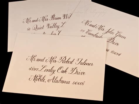 what is the best pen for addressing wedding invitations calligraphy wedding envelope addressing lettered with