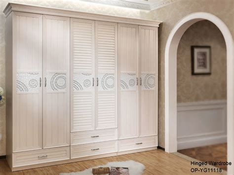 American Wardrobe by China America Series Light Hinged Wooden Wardrobe
