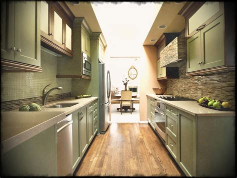 narrow kitchen ideas awesome small galley remodel
