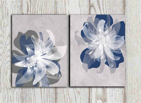 Etsy Wall - wall design ideas popular items etsy blue flower wall