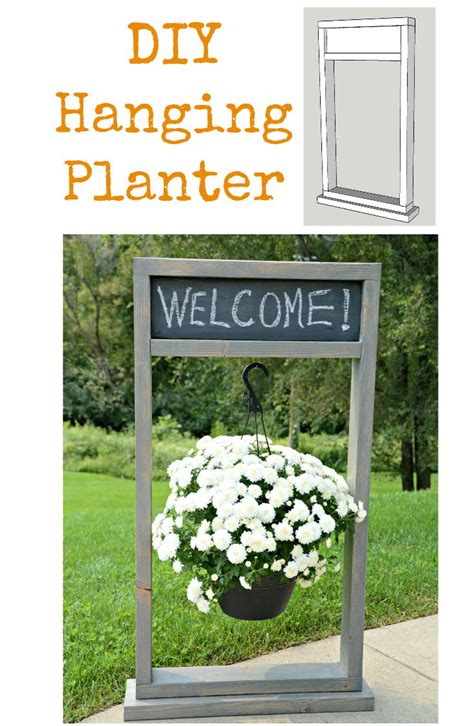 how to build a fall hanging planter the home depot diy
