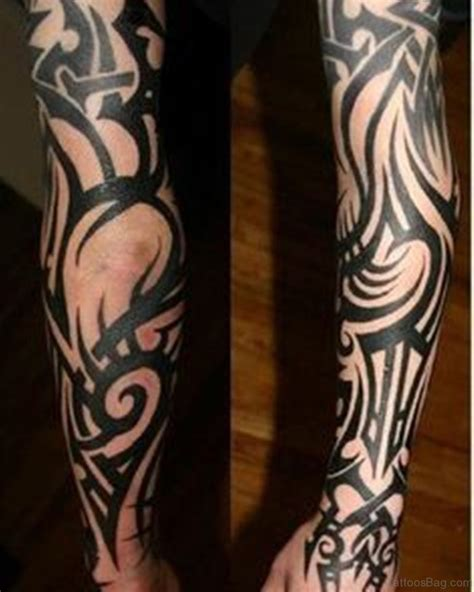 full sleeve tattoo tribal 70 fabulous tribal tattoos on sleeve