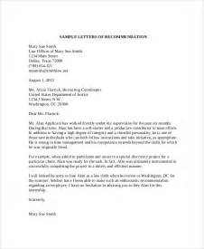 sle recommendation letter 9 exles in word pdf