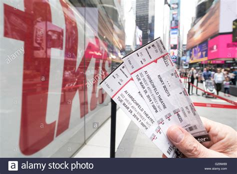 boots tickets quot boots quot broadway theater tickets nyc stock photo
