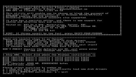 windows reset password registry editor boot cd reset lost windows passwords with offline registry editor