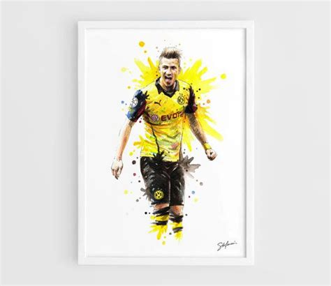 watercolor tattoo dortmund marco reus borussia dortmund a3 prints of the by