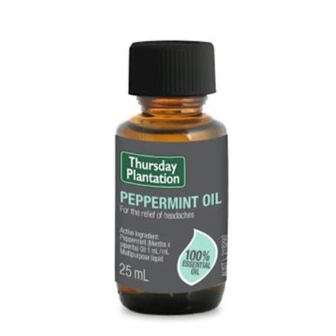 Peek Me And Joint Relief 25ml thursday plantation peppermint 25ml headache relief