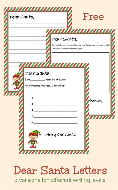 printable sts for santa letters free printable dear santa letter 3 different versions