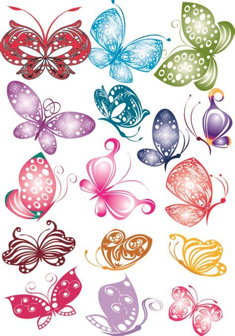 free colorful butterfly clip art 54