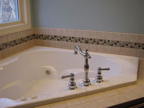 mosaic tile around bathtub almost painless tile update a little design help