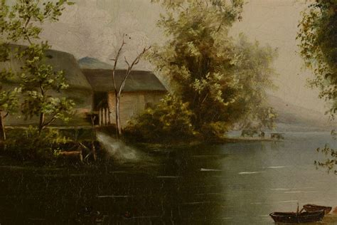 canvas knox 19th c oil on canvas knox county scene