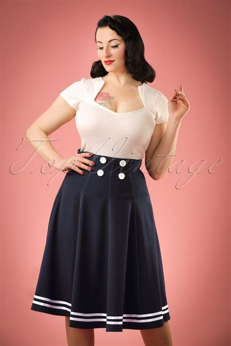 important exle of skirtings not being the same color 50s mollys sailor skirt ahoy navy
