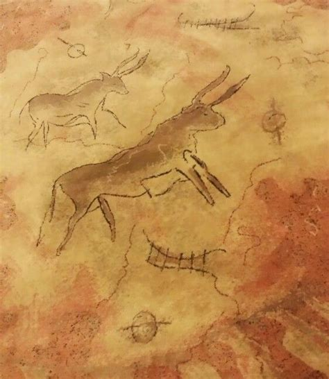 cave rug detail of a lascaux cave painting flemish rug home cave painting rugs and caves