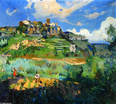 cuadros de mir el pueblo san quirce de valles 243 leo sobre lienzo de