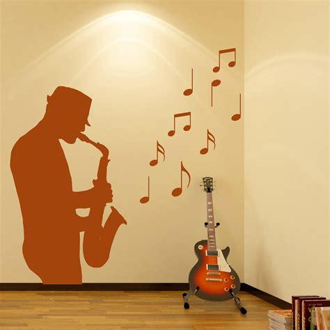 saxophone player wall sticker jazz  wall decal bar