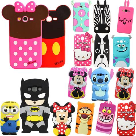 Casing Handphone Samsung J1 Ace 3d Silikon Mickey Minie Mouse Back aliexpress acheter pour samsung galaxy grand neo plus
