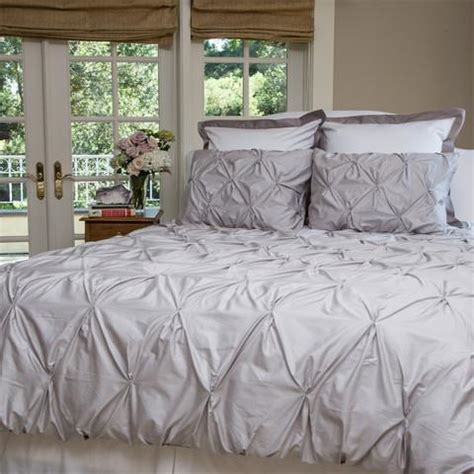 grey pintuck comforter set the valencia dove gray pintuck duvet cover set crane