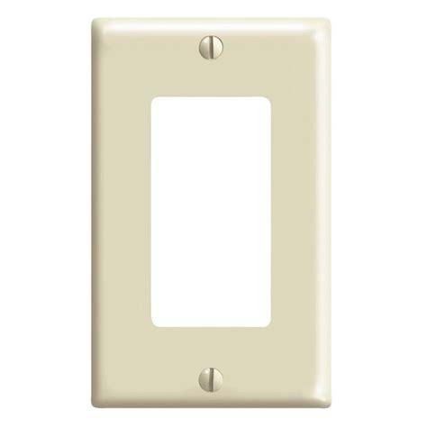 leviton decora 1 jumbo wall plate white r52 88601