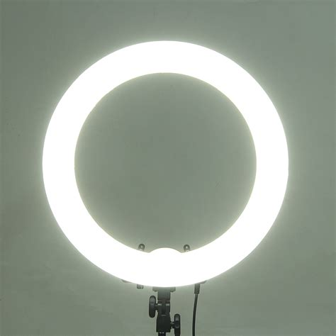 fluorescent dimmable ring light 18 inch 5500k 55w dimmable photo fluorescent led ring