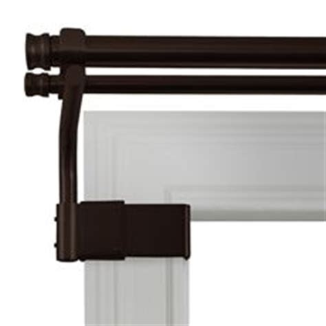 curtain rod no holes 1000 ideas about double window curtains on pinterest