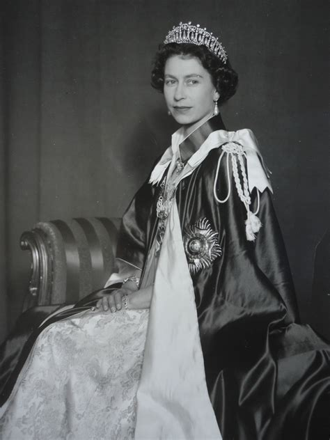 queen elizabeth ii her majesty queen elizabeth ii in the robes of the order