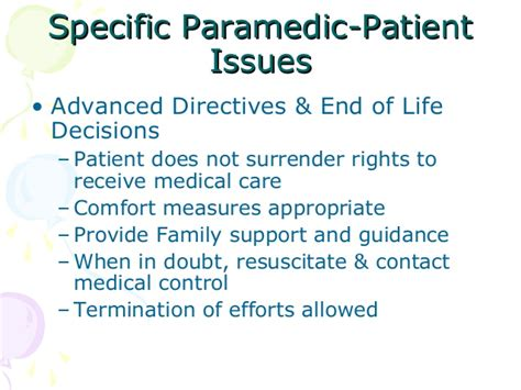 end of life comfort measures legal aspects of med prac