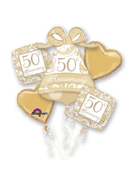golden wedding anniversary balloon bouquet delivery