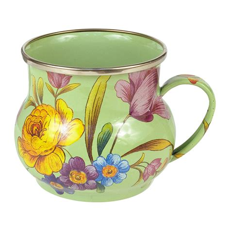 Flowers Mug buy mackenzie childs flower market enamel mug green amara