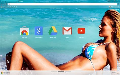 hot girl themes google chrome free free sexy beach girl hd google chrome theme download