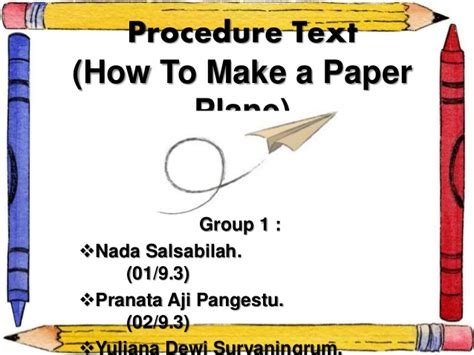 How To Make A Paper Slide - procedure text how to make paper plane