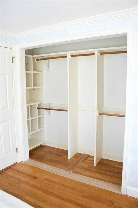 Closet Doors by Replacing Bi Fold Closet Doors With Curtains Our Closet
