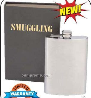 Cell Phone Flask Lets You Be A Stealth by Maxam Smuggling Book Including An 8 Oz Stainless Steel