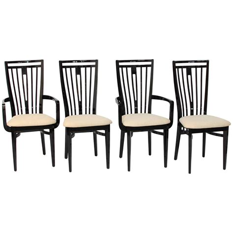 italian black lacquer dining chairs for sale at 1stdibs