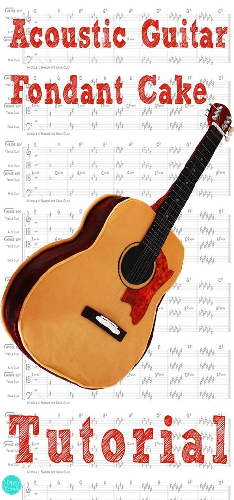 tutorial guitar happy birthday acoustic guitar fondant cake video tutorial happyfoods