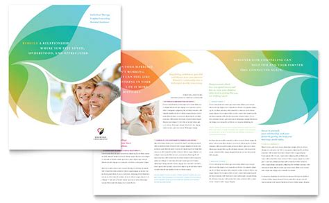 brochure design templates pdf free marriage counseling brochure template design