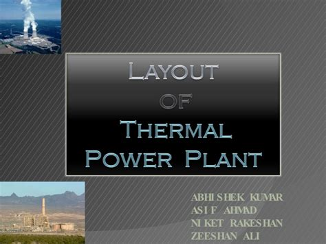 layout of the thermal power plant thermal power plant