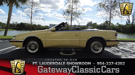 Tc By Maserati by 592 Ftl 1990 Chrysler Tc By Maserati