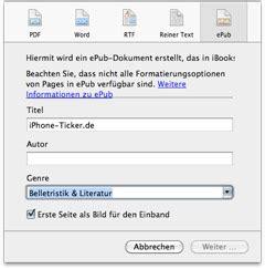 ebook format for mac mac iwork update erlaubt export in epub format iphone