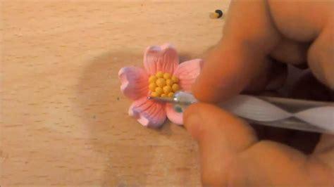 fimo fiori tutorial fimo fiore di ciliegio