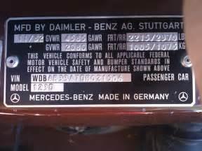Mercedes Vin Number Check Mercedes W124 Vin Number