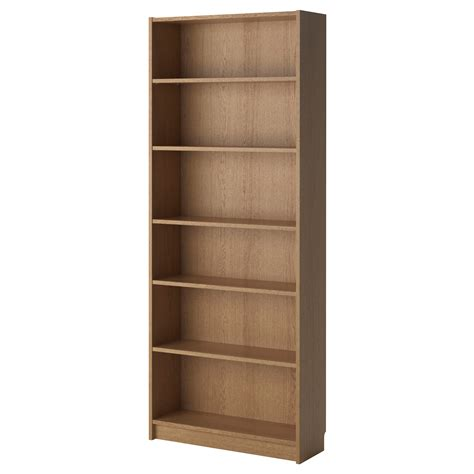 billy bookcase oak veneer 80x28x202 cm ikea