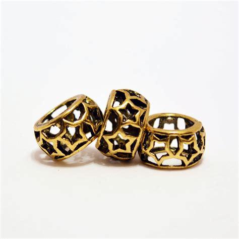 gold dreadlock gold dreadlock bead gold dread bead gold large