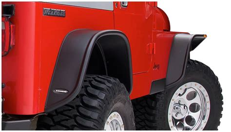 Jeep Tj Flat Fender Flares Bushwacker Flat Style Fender Flares For 87 95 Jeep