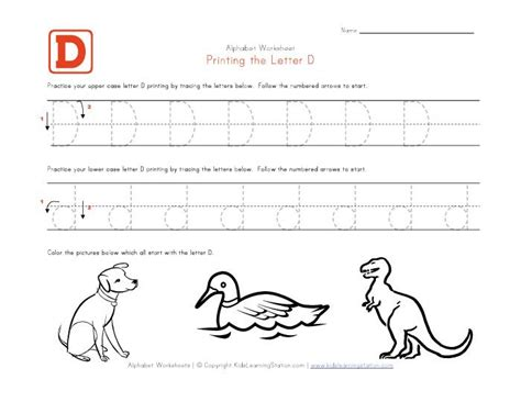 worksheets for preschoolers letter d letter d coloring pages daycare preschool alphabet