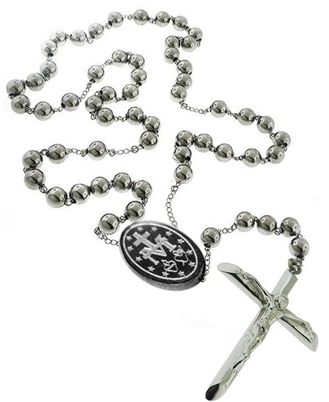 stainless steel rosary for catholic rosary pray necklace stainless steel