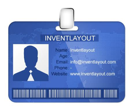 id badge template psd