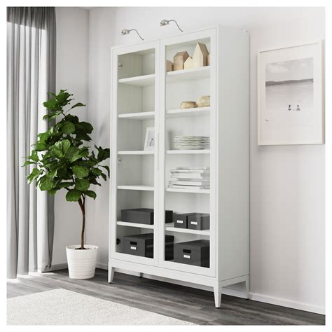 Regiss 214 R Glass Door Cabinet White 118x203 Cm Ikea White Armoire With Glass Doors