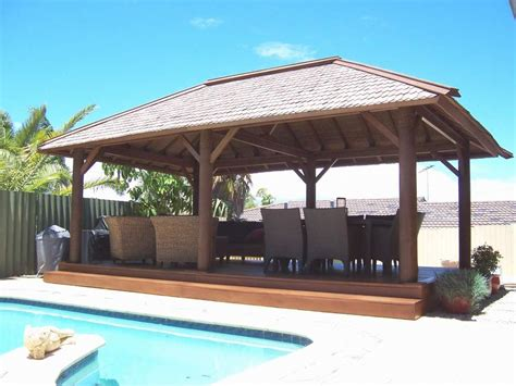 pool gazebo plans rectangular wooden gazebo with outdoor wicker chair for