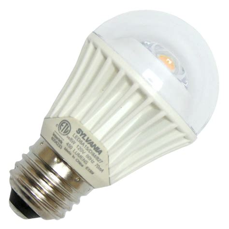 sylvania led light bulbs sylvania 78885 led8a15 dim 827 hvp a line pear led light