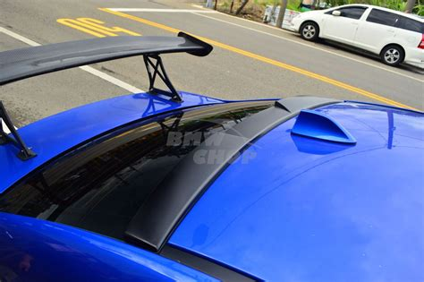 subaru roof spoiler matte black 2015 2016 for subau wrx sti 4th v type rear